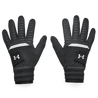 Under Armour Mens 2021 ColdGear Infrared Storm Leather Palms Golf Glove
