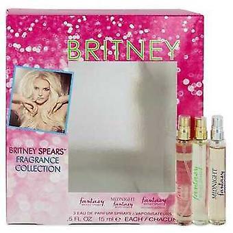 Fantasy By Britney Spears Gift Set -- .5 Oz Fantasy Min Edp Spray + .5 Oz Fantasy Midnight Mini Edp V728-545303