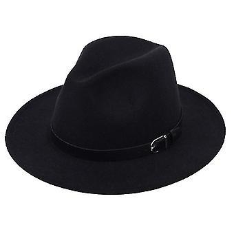 Classique Britannique Fedora Hat Hommes Femmes Imitation Laine Hiver Feutre Chapeaux Mode Jazz Chapeau