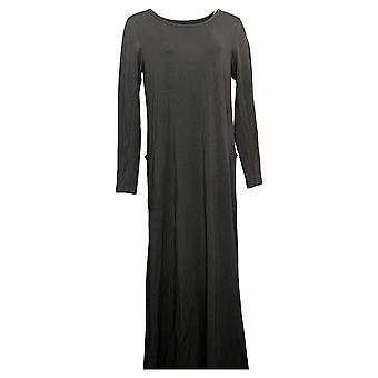 Modern Soul Dress Jersey Knit Maxi w/ Pockets Gray 671349
