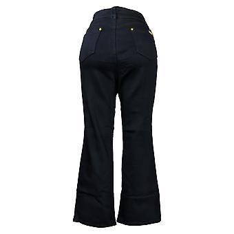 Global Chic By Iman Women's Petite Pants Slim Bootcut Black 685831
