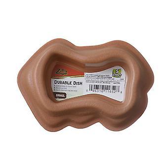 """Zilla Durable Dish for Reptiles - Brown - Small (4.5""""L x 3.1""""W)"""