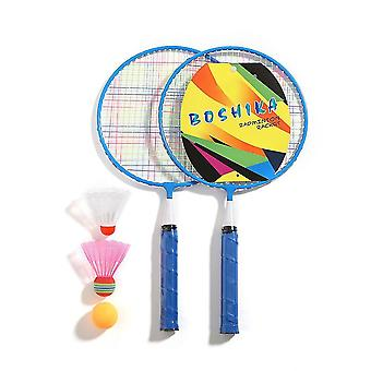 Nylonlegierung Durable Badminton Schläger Set (Blau)