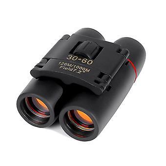 Dalekohled 30x60 Skládací dalekohled s nočním viděním při nízkém osvětlení pro venkovní pozorování ptáků