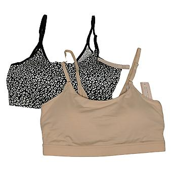 Uncover SzM One Size2-pack Sewn-In Cup Lounge Black/Beige Bra Set 766311