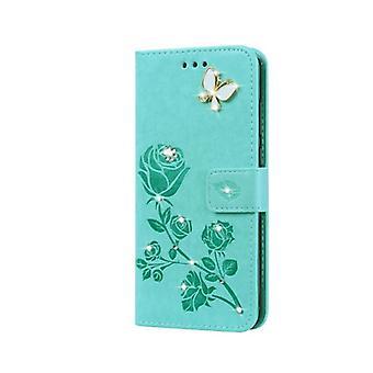 Lompakon nahkakotelo Samsung Galaxy S20 Plus-vihreälle