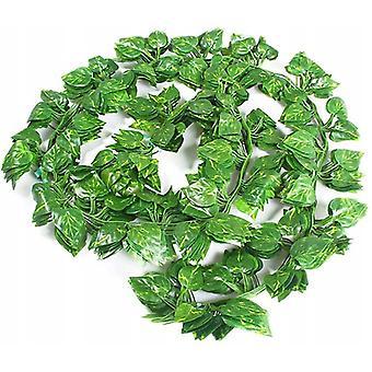 81 Blatt Grüner Dill 12 Packungen Imitation Weinblatt Reben Dekorative grüne Blätter Decke Reben Grüne Reben