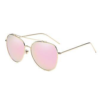 Womens polariserade rosa solglasögon med metallram