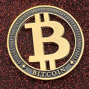 American B Letter Physische Gedenkmedaille Zinklegierung Ausgehöhlte Bitcoin Goldmünze Münze Geprägte doppelseitige Münze Gedenkmünze