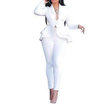 ميل المرأة عارضة سليم دعوى اللون الصلب بدلة من قطعتين (أعلى والسراويل) 4 ألوان