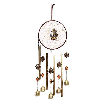 Swotgdoby Heart-shaped Wind Chime With Anchor
