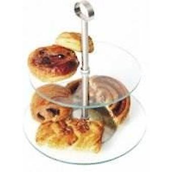 2 tier glas Cake Stand