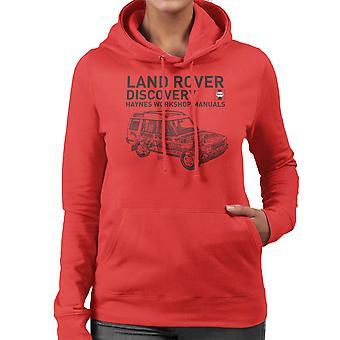 Haynes Workshop Manual 3016 Land Rover Discovery Black Women's Hooded Sweatshirt