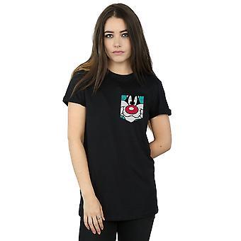 الوجه سيلفستر جيب فو صديقها لوني والإيقاعات المرأة تناسب القميص