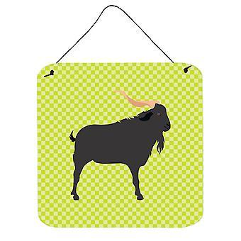 Carolines trésors BB7708DS66 Verata chèvre vert mur ou porte accrocher impressions