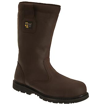 Grafters Mens Safety Toe Cap Rigger Boots