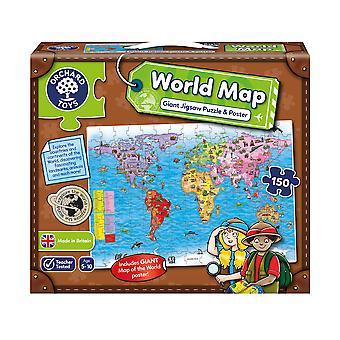 Фруктовый Сад мира карта и плакат головоломки