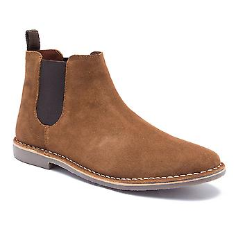 Red Tape Arizona Tan Suede Classic Chelsea Boots