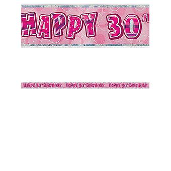 Bannière anniversaire Glitz rose 30thanniversaire prisme