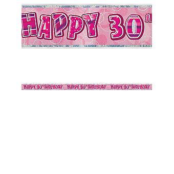 Birthday Glitz Pink 30thBirthday Prism Banner