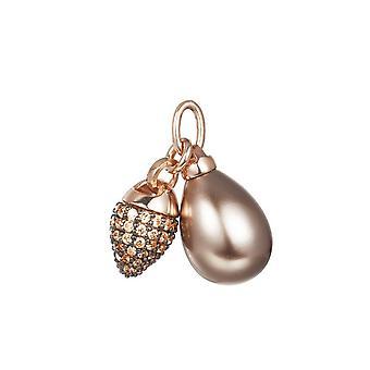 Colgante plata encanto rosado Circonita Joop mujer KATY JPCH90007C000