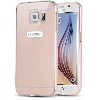 Aluminiowe zderzak 2 kawałki złotem okładki dla Samsung Galaxy S6 G920 G920F