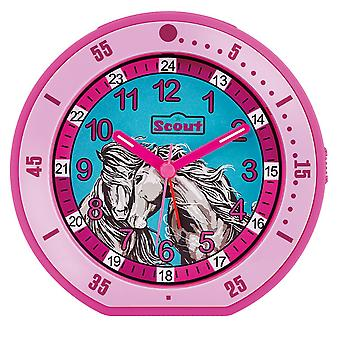 Scout children alarm clock alarm girl minute horse pink 280001003