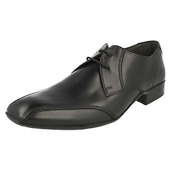 Mens Base Londen formele Lace Up schoenen streepje