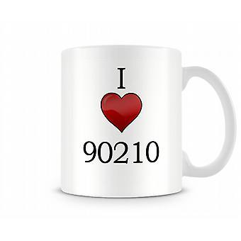 Jag älskar 90210 tryckta mugg