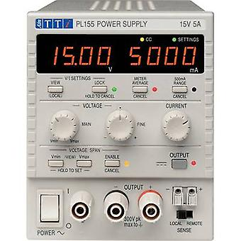 Aim TTi PL155 Bench PSU (adjustable voltage) 0 - 15 V DC 0 - 5 A 75 W No. of outputs 1 x