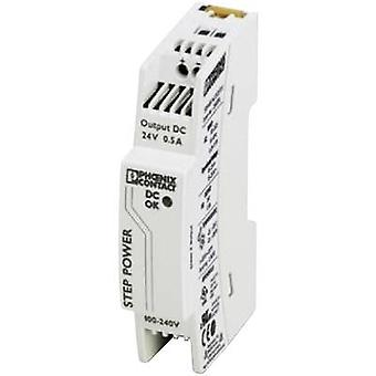 Phoenix Contact STEP-PS/1AC/24DC/0.5 Rail montato PSU (DIN) 24 Vdc 0.55 A 18 W 1 x
