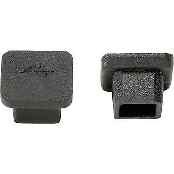 PB Fastener CP-USB-B port USB s uzávěrem silikonový černý 1 počítač (y)