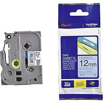 Merking tape bror TZe, TZ TZe-531 Tape farge: blå skrift farge: svart 12 mm 8 m