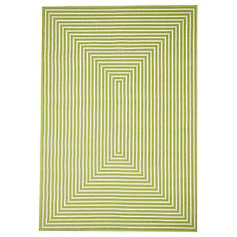 In - and outdoor carpet balcony / living room vitaminic braid green 133 x 190 cm