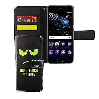 Dont touch min telefon mobil fall Huawei P10 Flip fall Wallet case