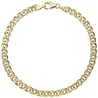 Twin tank armband 585 guld gul guld 21 cm armband guld knäppen