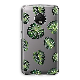 Motorola Moto G5 boîtier Transparent (doux) - feuilles tropicales