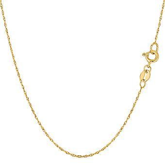 10 k gul guld reb kæde halskæde, 0,5 mm