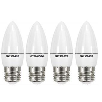 4 x Sylvania ToLEDo Candle E27 V4 5.5W Homelight LED 470lm [Energy Class A+]