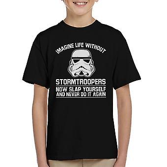 Stormtrooper originale immaginare la vita senza t-shirt bambini