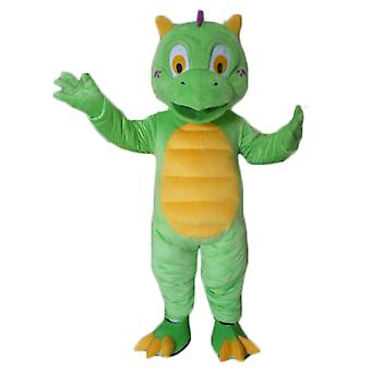 SPOTSOUND of little green and yellow, cute and colorful dragon mascot