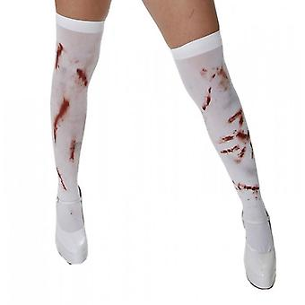 Henbrandt Hold Up Bloody Stockings, White With Blood Stains