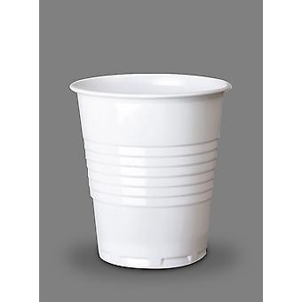 White Disposable Squat Cold Cup 7oz