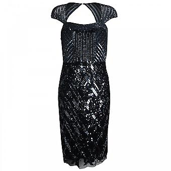 Frank Lyman Open Back All Over Sequin Cocktail Dress