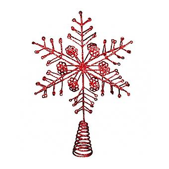 Gisela Graham Red Star Christmas Tree Topper Feature