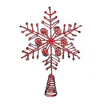 Gisela Graham Estrella Roja árbol de Navidad Topper Característica