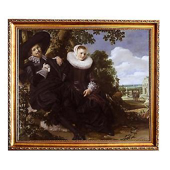 With Ram Isaak Abrhamsz Massa and Beatrix van, Frans Hals, 61x51cm