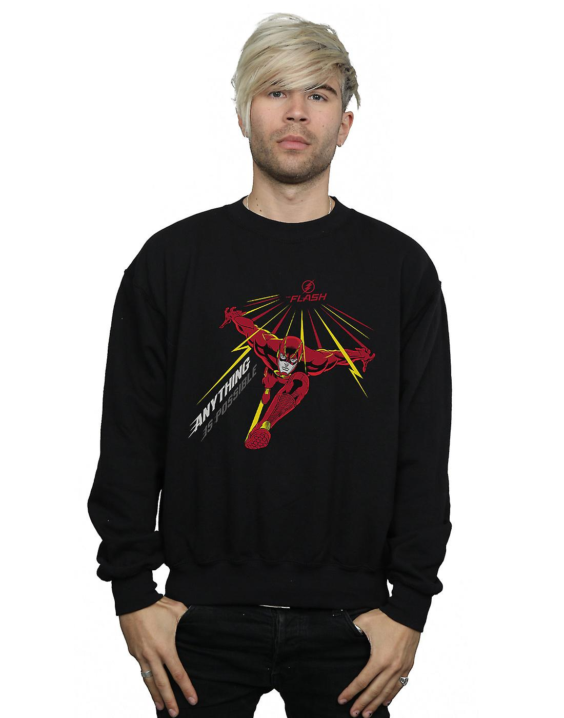 DC Comics Men's The Flash Anything Is Possible Sweatshirt