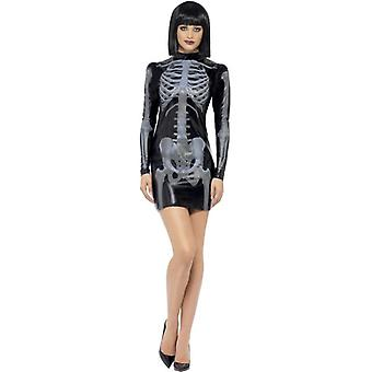 Fieber-Miss Whiplash Skelett Kostüm