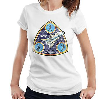 NASA Spacelab Life Sciences 1 Mission Badge Distressed Women's T-Shirt